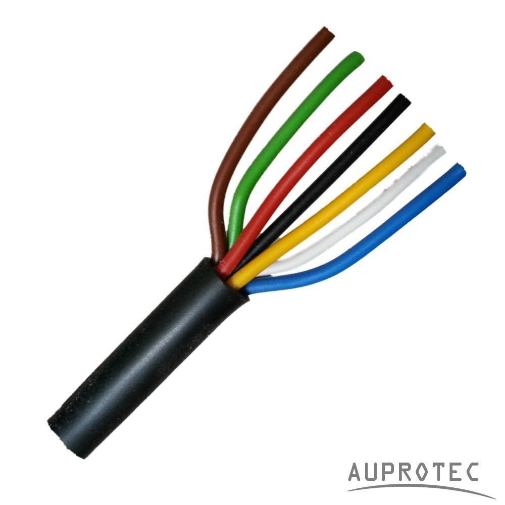 20m Auprotec/® Rundkabel 7 adriges Elektrokabel Anh/ängerkabel 7 x 1,0 mm/²