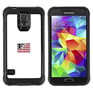 Suave TPU Caso Carcasa de Caucho Funda para Samsung Galaxy S5 SM-G900 / Flag for which country / STRONG