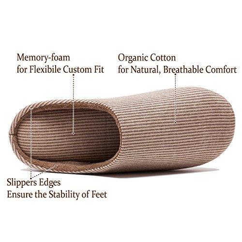 Zwarte Vrijdag Verkoop Unisex Comfort Casual Slipper Antislip Katoenen Linnen Slippers Voor Mannen En Vrouwen In Schoenen Koffie Groot (us Maat 8-9,5)