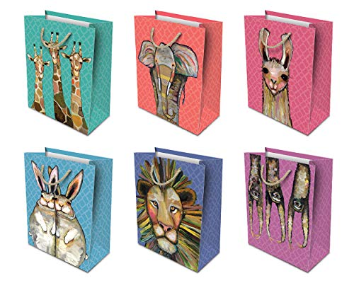 Studio Oh! 6-Piece All-Occasion Gift Bag Assortment Available in 4 Different Bundles, Eli Halpin Majestic Animals