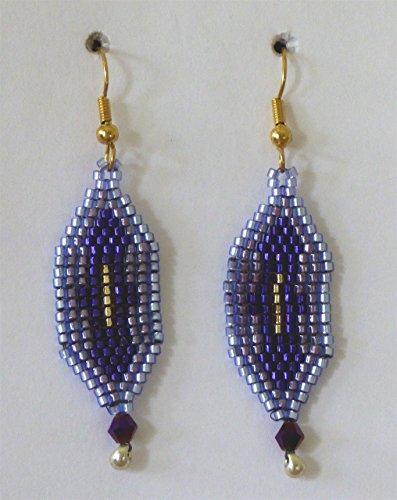 Purple and Lavender Seed Bead Earrings