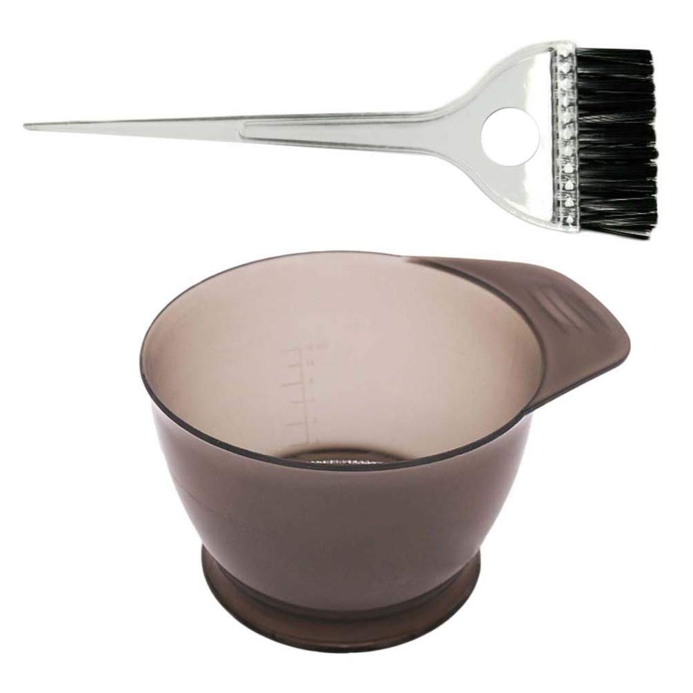 Hair Dye Brush and Bowl Set Professional Salon Hair Colour Mixing Dyeing Kit DIY Hair Dye Coloring Tools, 2PCS