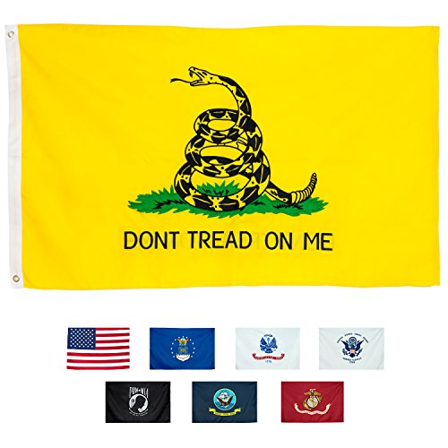 Cheap  Gadsden Flag Dont Tread On Me – Double Sided 3x5 Ft -Strongest..