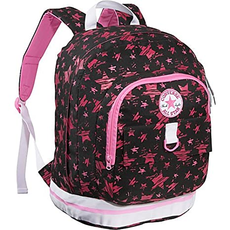 91a9db4218 Converse Black & Pink Stars Converse Backpack: Amazon.co.uk: Luggage