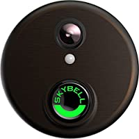 Skybell HD WiFi Doorbell Camera Alarm.com 1080p Color Night Vision Bronze