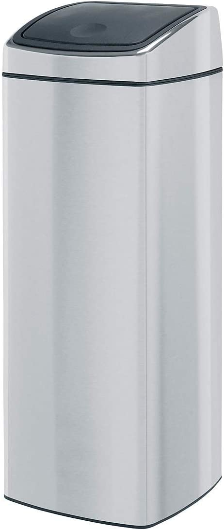 Cubo de Basura Rectangular Brabantia Pedal Bin 25 litros Acero Brillante Cubo Interior de pl/ástico extra/íble