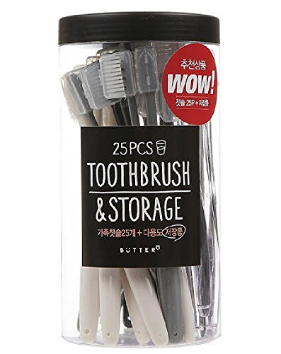 Preserve Toothbrushes in Storage, Ultra Soft Bristles Family Pack, 25-Count (Colors Vary)