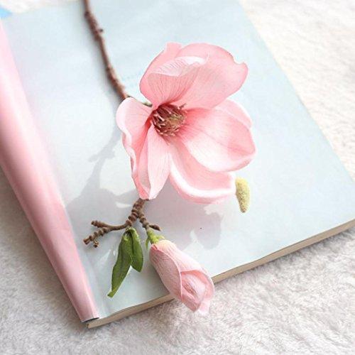 YJYdada Artificial Fake Flowers Leaf Magnolia Floral Wedding Bouquet Party Home Decor (D) ()