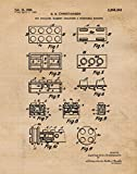 Original Lego Patent Poster Print- Set of 1 (One 11x14) Unframed Picture- Great Wall Art Decor Gifts Under $15 for Home, Office, Garage, Man Cave, Teacher, Builder, Developer, Architect, Puzzles Fan -  Stars by Nature