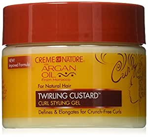 Creme of Nature Twirling Custard Curl Defining Jelly, 12 Ounce