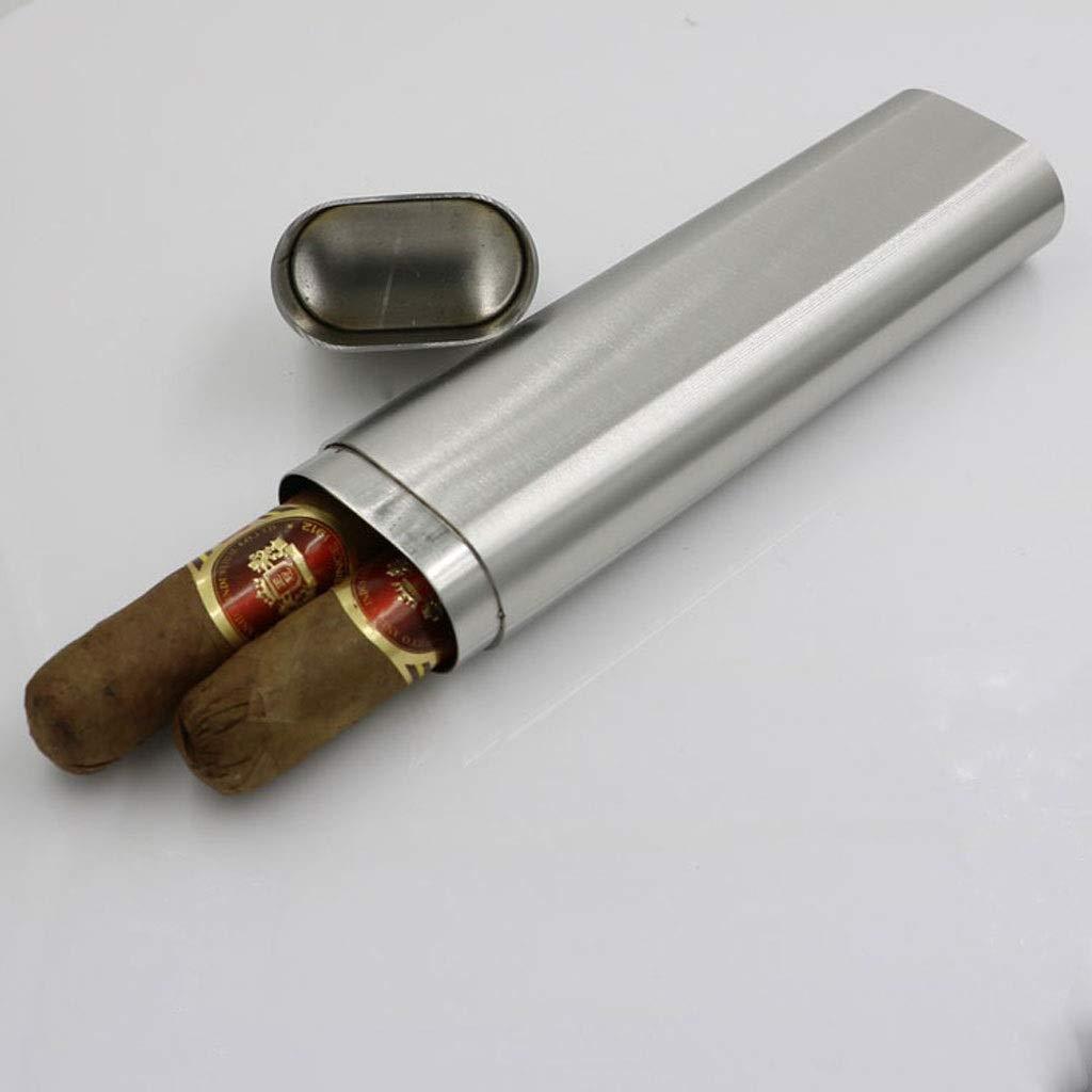 Cigar box Entonnoir de Tube /à vin Entonnoir Tube de Cigare bo/îte /à cigares Portable /Épaisseur de la fiole en Acier Inoxydable de 2 oz Taille : A WMM