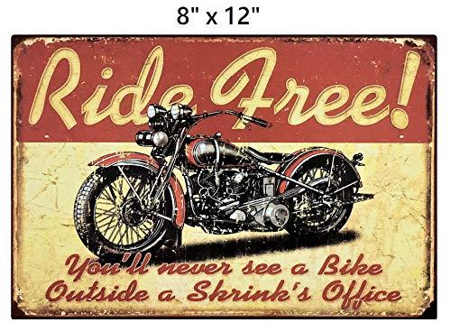 Motorcycle Biker Metal Sign - 2