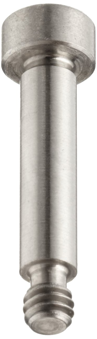 316 Stainless Steel Shoulder Screw, Hex Socket Drive, Standard Tolerance, Meets ASME B18.3, 1/4'' Shoulder Diameter, 2-3/4'' Shoulder Length, Partially Threaded, #10-24 Threads, 3/8'' Thread Length, Made in US, (Pack of 1)