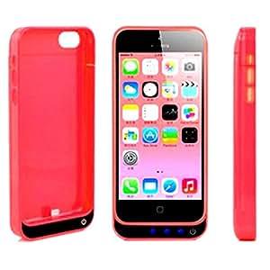 Vanda®-Funda Carcasa con Bateria iphone 5C-5 - 5s - Compatible con iOS7 - Power Pack Capacidad 4200 mAh - color rojo - Powerbank Iphone 5s 5 Powercase
