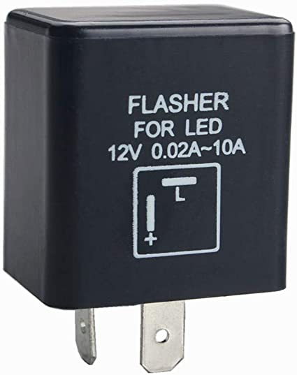 Flasher Relay 12V Electronic Turn Signal Flasher /& Hazard Warning Relay Heavy Duty Automotive Relay 2 Pin LED Compatible Electronic Fixed Flasher