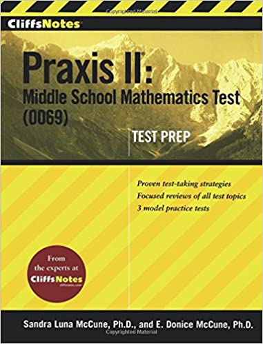 photo about Free Printable Praxis Math Practice Test called CliffsNotes Praxis II: Centre Higher education Arithmetic Try out (0069