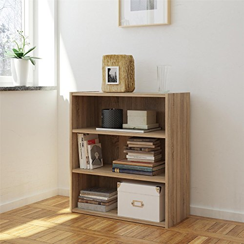 - RealRooms Weathered Oak Tally 3 Shelf Bookcase