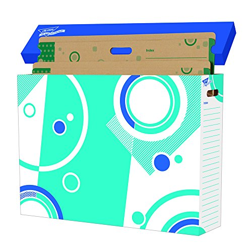 Becker's School Supplies Trend File 'n Save System Chart Storage Folders Set, (Set of 6)