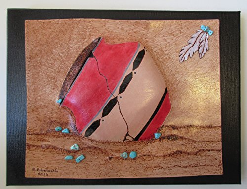 'Broken Dreams 1' Genuine Leather. Beautiful, Embossed, Pictorial Leather Art, Hand-crafted in USA. 9