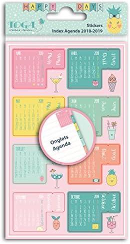 Toga Adhesivo ingletes Agenda 2018 2019, Papel, Multicolor, 10 x 19 x 0,1 cm: Amazon.es: Hogar