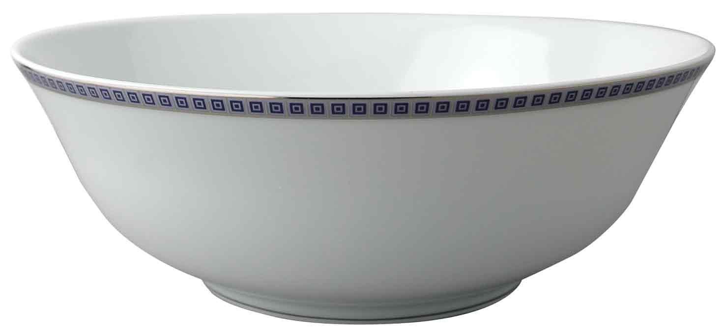 Bernardaud Athena Platinum Navy Salad Bowl