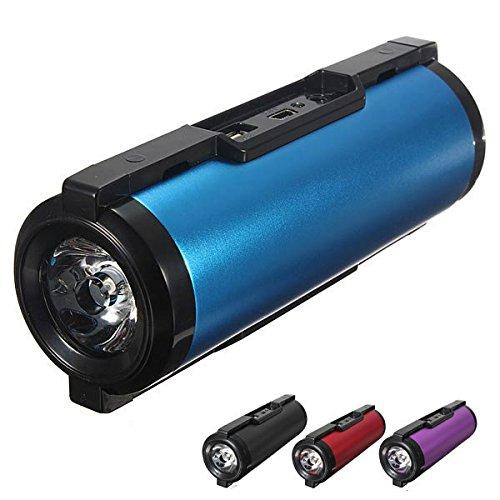 Bazaar Lampe torche haut-parleur mp3 de fm de banque mobile de puissance de vélo