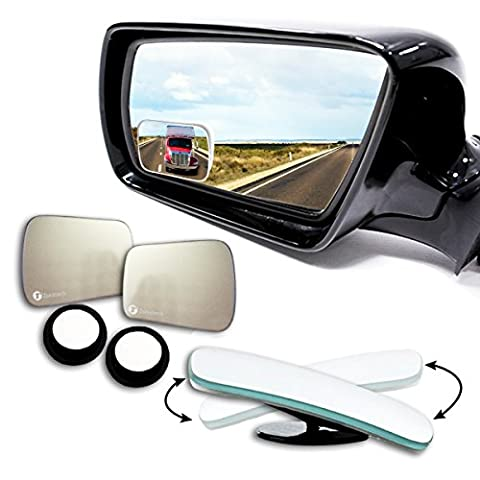 Zone Tech Blind Spot Adjustable Square Mirrors - 2-Pack Premium Quality Square Blind Spot Mirror Adjustable Stick-On Exterior Side Mirror for All Cars Motorcycles Trucks - Custom Fit Snowmobile Cover