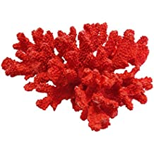 Large Red Faux Sea Coral Reef Nautical Beach Coastal House Decor Polyresin Home Accent Figurines Display Decorative Accessories