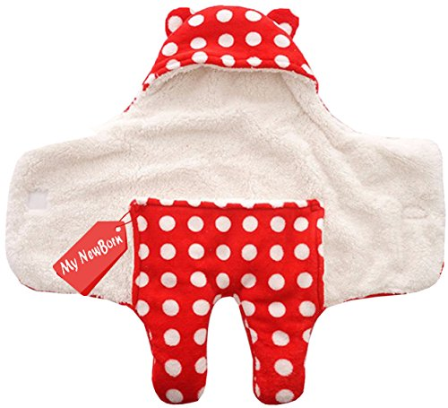 MY NEWBORN Baby Blanket Wrapper Cum Sleeeping Bag Red