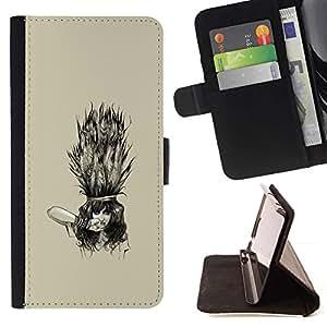 Momo Phone Case / Flip Funda de Cuero Case Cover - Emo Goth Girl;;;;;;;; - LG G3