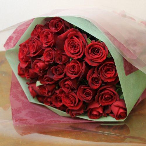 〔エルフルール〕バラの花束 50本 カラー:レッド 結婚記念日 プレゼント 薔薇 誕生日祝い 贈り物 クリスマスプレゼント 彼女 B00JKL17XO
