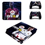 Tokaski® FIFA 18 PS4 Slim Designer Skin Game Console System 2 Controller Decal Vinyl Protective Covers Stickers for Sony PlayStation 4 Slim