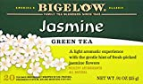 Bigelow Green Tea with Jasmine 20 Bags (Pack of 6) Caffeinated Individual Green Tea Bags, for Hot Tea or Iced Tea, Drink Plain or Sweetened with Honey or Sugar