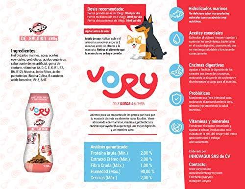 Vory !!! delicioso aderezo para las croquetas de tu perro, complemento alimenticio, utilízalo también como premio, le ayudara a mejorar su digestión, las vitaminas y probioticos que necesita (Res-Salmon, Trios (2 Res+ 1 Salmon)) 4