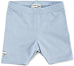 Lil Leggs Unisex Boys Girls Cotton Short Leggings - Light Blue, 9 Months
