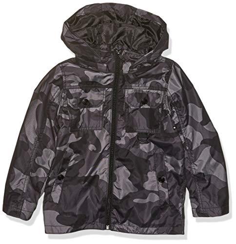 Urban Republic Toddler Boys MESH CAMO Jacket, Black, 3T