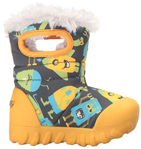 B Bogs Multi Waterproof Gelb Boot Winter Kids' Dark Toddler Moc Insulated Grey BnBw5xr7