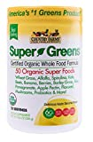 Country Farms Super Green Drink Powder, Apple Banana Flavor, 10.6 oz Each (Pack of 3)