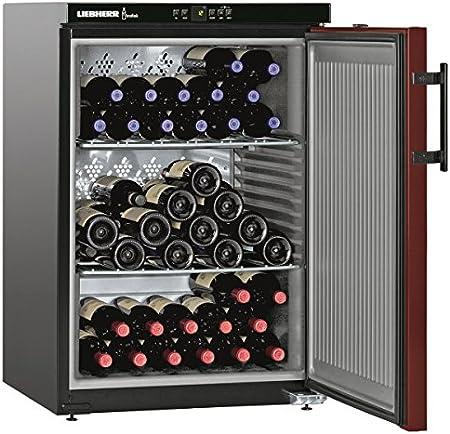 Liebherr WKr 1811 - Enfriador de vino (Independiente, Negro, Acero inoxidable, 3 estanterías, 1 puerta(s), Acero)