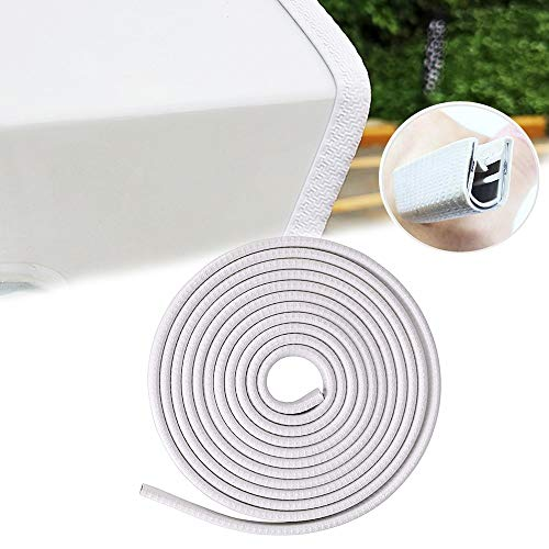 Car Door Edge Guards Door Ding Protection Strips (16 ft, White)