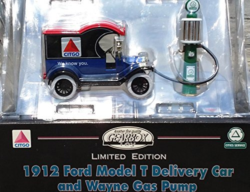 Wayne Gas Pump (Gearbox Gas Station Set: 1912 Citgo Delivery Truck & 1920 CITIES SERVICE Wayne Gas Pump in 1:25 Scale Diecast)