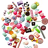 60 Pieces Slime Charms Set Kawaii Candy Sweets Charms Mixed Flatback Resin Charms for Slime DIY Crafts Accessories Scrapbooking