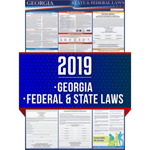 (2019 Georgia State and Federal Labor Laws Poster - OSHA Workplace Compliant 24