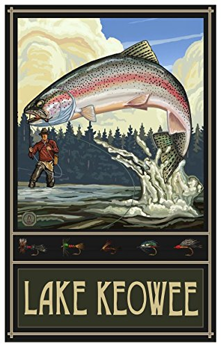 Lake Keowee South Carolina Travel Art Print Poster by Paul A. Lanquist (12