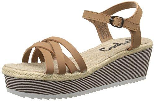 Sandalo Con Zeppa Con Ciondolo Da Donna Coolway Marrone