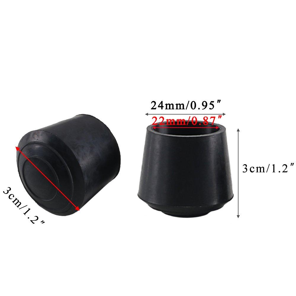 Superb Chair Leg Tips Caps Kindpma 32 Pack 7 8 Rubber Black Round Inzonedesignstudio Interior Chair Design Inzonedesignstudiocom