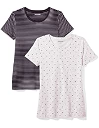 8b1370a77be Women s 2-Pack Short-Sleeve Crewneck T-Shirt