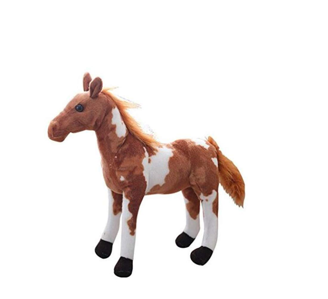 Tmrow 1PC 30cm Soft Toy The Horse Soft Plush Toy 30cm Tall American Paint Horse Plush Dolls Stuffed Kids Gift