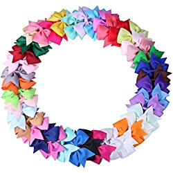 40 pcs 3 inch Hair Bows for Girls Baby Toddlers Infant Hair Clips Hair Clips Barrette (40 pcs 3 inch)