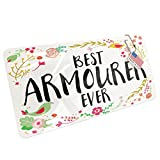 NEONBLOND Metal License Plate Happy Floral Border Armourer